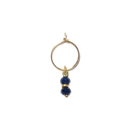 Earparty oorring Agaat blauw