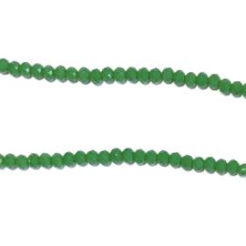 Streng glaskralen facet Groen