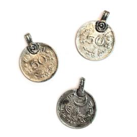 Munten Tibetaanse stijl zilver