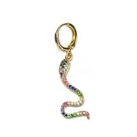 Single Oorbel Snake Rainbow