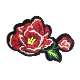 Patch - Strijkplaatje Roos Red Flower