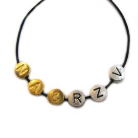 Letter kraal goud rond