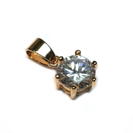 Hanger Strass rond kristal goud