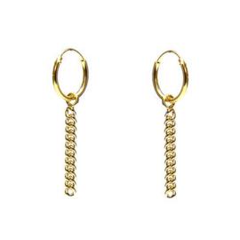 Oorbellen Chain goud