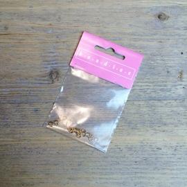 Ringetjes 5mm klein Goud