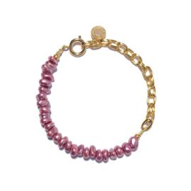 Armband Schakel Roze goud