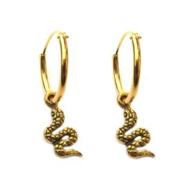 Oorbellen slang goud