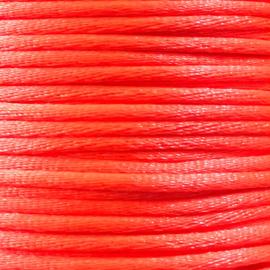 Satijnkoord 2,5mm Neon Oranje cartierknoop