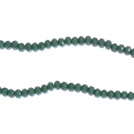 Streng glaskralen facet Groen grijs