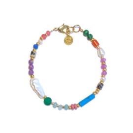 Armband Parel half edelsteen multicolor