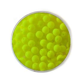 Doosje neon Gele kralen 4mm