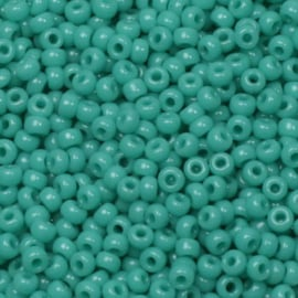 Miyuki Rocailles 11/0 Opaque turkoois groen