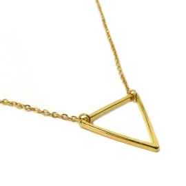 Ketting verguld Triangle