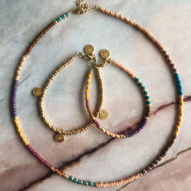 DIY Kralen pakketje Colormix Muntjes ketting en armbandjes
