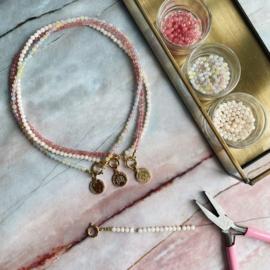 DIY Startpakket Sieraden maken Ketting munt goud Creme