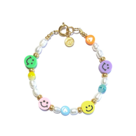 Smiley armband Zoetwater parels