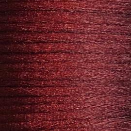 Satijnkoord 2,5mm Bordeauxrood cartierknoop
