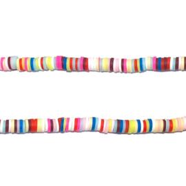 Streng schijfjes kralen Soft Multicolor 38-39 cm