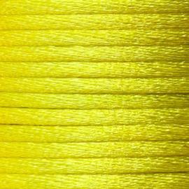 Satijnkoord 2,5mm geel cartierknoop