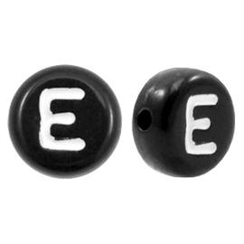 Letterkraal Rond zwart E