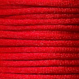 Satijnkoord 2,5mm Rood cartierknoop