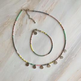 DIY pakket sieraden maken Miyuki ketting & armband zilver