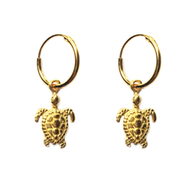 Oorbellen schildpad goud