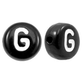 Letterkraal Rond zwart G