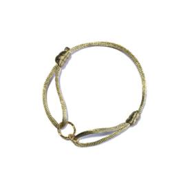 Armband cartierknoop Infinity Taupe goud