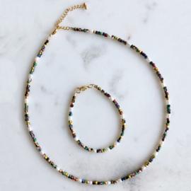 DIY Kralen pakketje Colormix 'Pearls&Stripes' ketting en armband