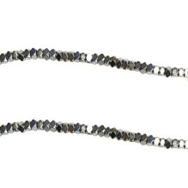Hematiet kraal zilver
