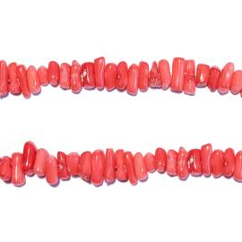 Streng bamboe koraal Roze kralen 40 cm