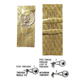 Miyuki set van 6 extra fijne rijgnaalden met threader