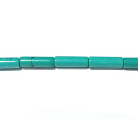 Howlite turkoois Halfedelsteen kraal staafje