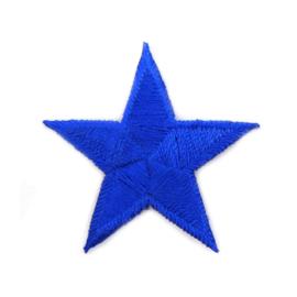 Patch - Strijkplaatje Ster konings blauw