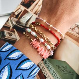 Armband Rood Bamboekoraal