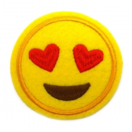 Patch - Strijkplaatje Smiley Heart