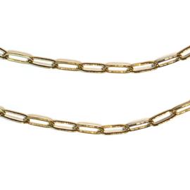 Schakel ketting verguld ovaal goud