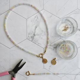DIY Startpakket Sieraden maken Ketting munt goud Pastel