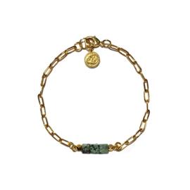 Schakelarmband African Jade