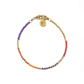 Armband Miyuki multicolor goud