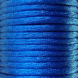 Satijnkoord 2,5mm Konings Blauw cartierknoop
