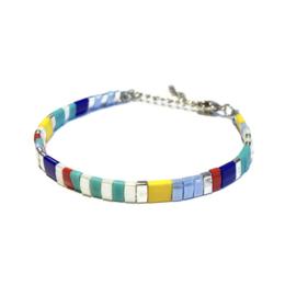 Tila Armband multicolor Geel blauw zilver