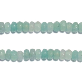 Jade kraal rondel facet licht turkoois