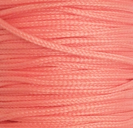 Koord 0,8 of 1,5 mm Licht Zalm Roze