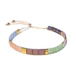 Tila Armband Pastel Lila Roze Mint goud