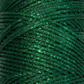 Groen metallic waxkoord 1mm
