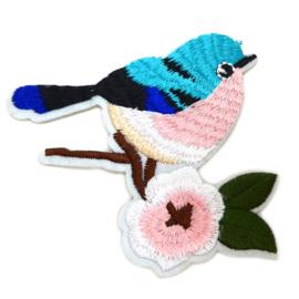 Patch - Strijkplaatje Vogeltje Bird blauw