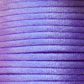 Satijnkoord 2,5mm Lila cartierknoop