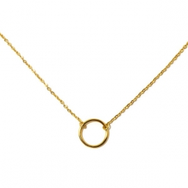 Gold Plated Small Circle Necklace